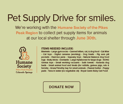 The Springs Modern Dentistry - Humane Society of the Pikes Peak Region Pet Drive